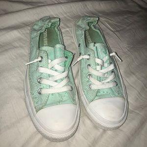 Sea foam green converse